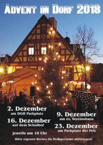 Advent im Dorf @ DGH, Ev. Vereinshaus, Schule, FEG